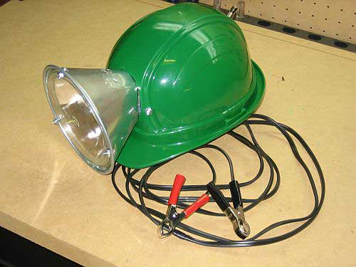 Home Made Hardhat Light